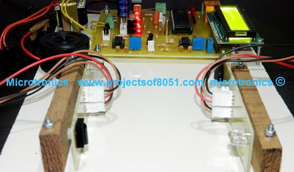 Automatic Room Light Controller Person Counter Ldr Working Circuit Project Model Bidirectional