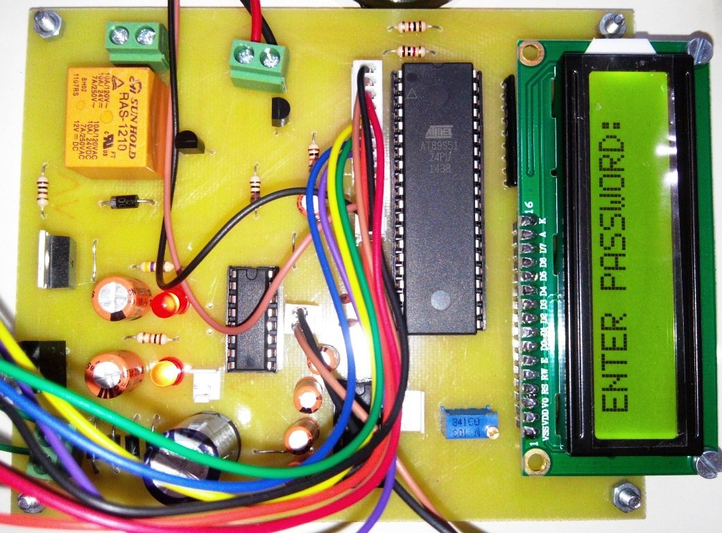 Password Based Bike Lock With Ignition Key For Security Microcontroller Diy Project Power Saving Using Pir Sensor Digital