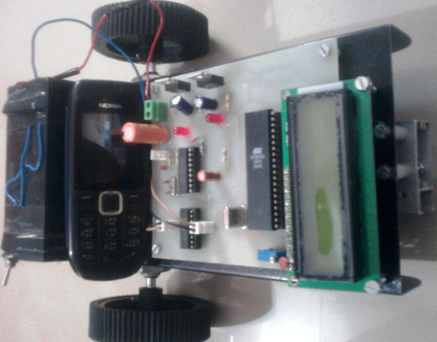 Mobile Controlled Robot - Cell phone Operated Robot