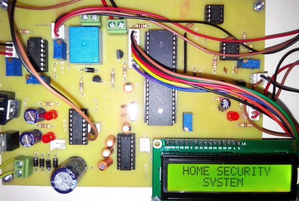 Project on microcontroller based home security system