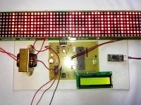 Rolling display using Matrix LEDs