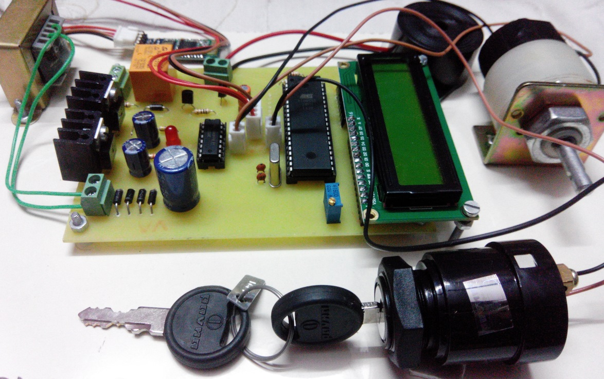 Android Mobile Based Security Lock For Bike Ignition Cellphone Controlled Car Starter Circuit Electronic Projects