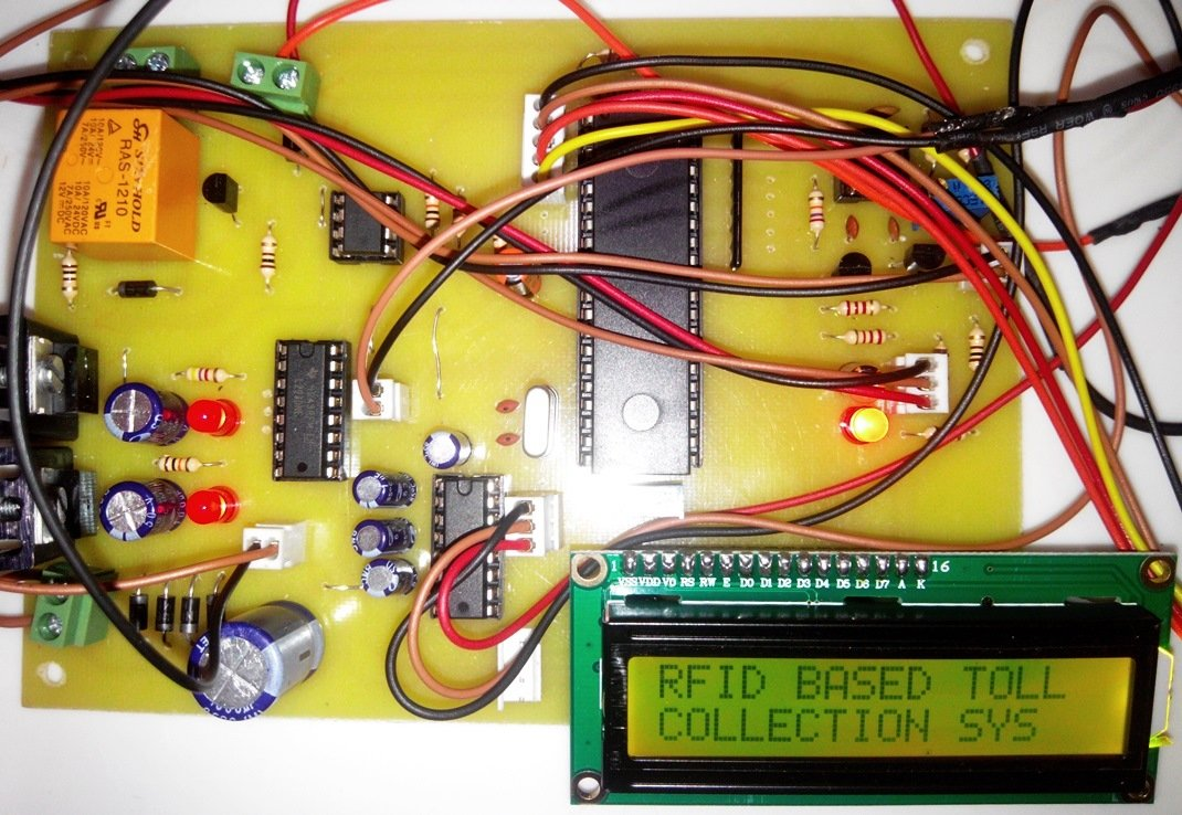Rfid Based Toll Tax Collection System For Highway Microcontroller Schematics 8051 Development Circuit Board