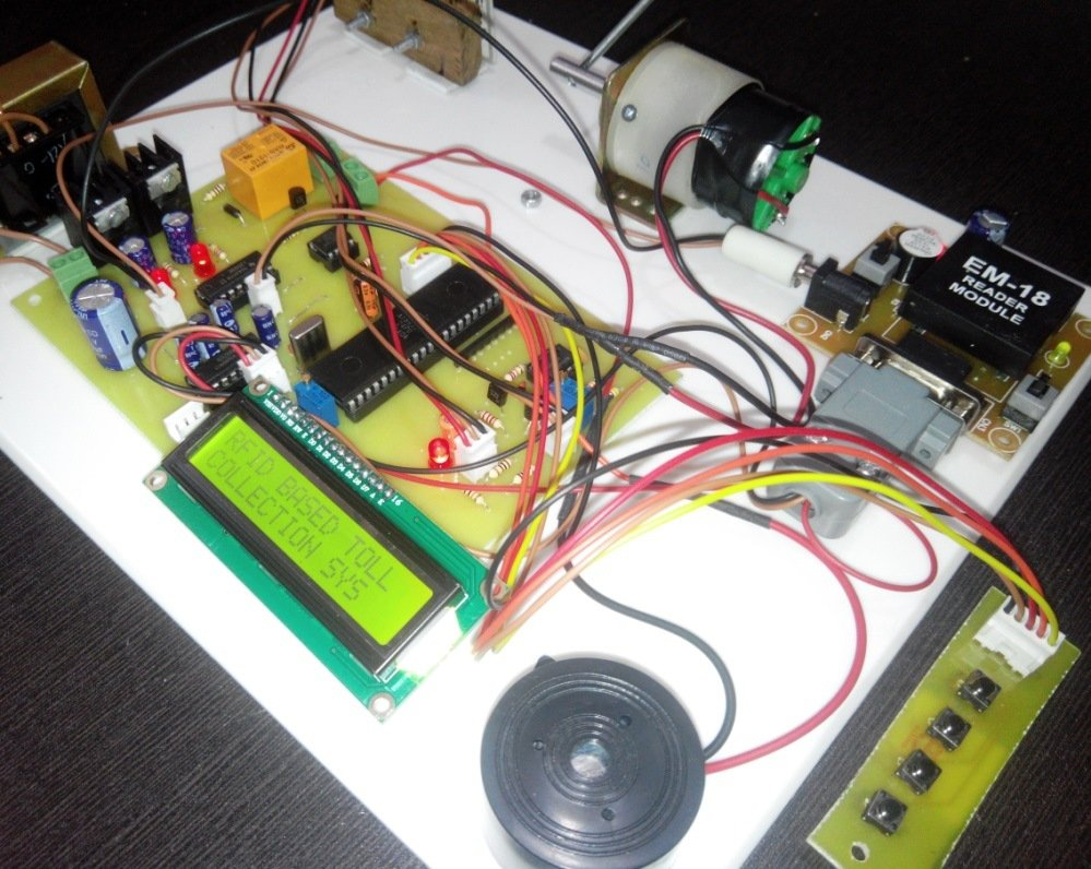 Rfid Based Toll Tax Collection System For Highway 8051 Microcontroller Projects Engineering Students