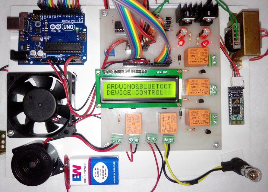 Voorkeur Home automation using Bluetooth and Arduino &WG67