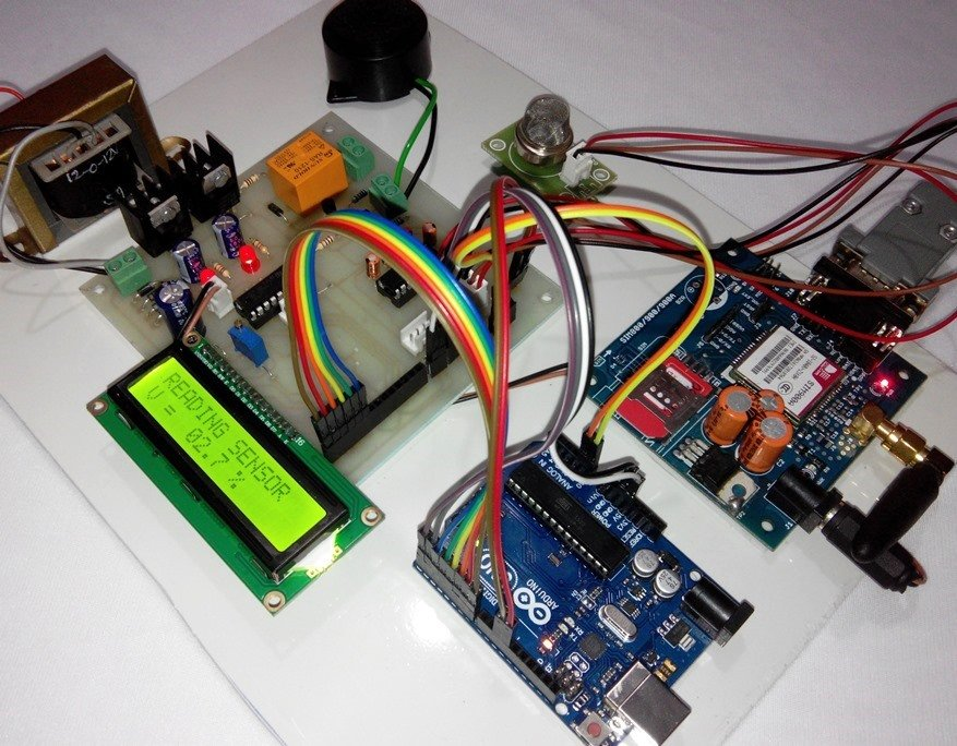 Arduino sms based lpg leakage detector using gsm modem