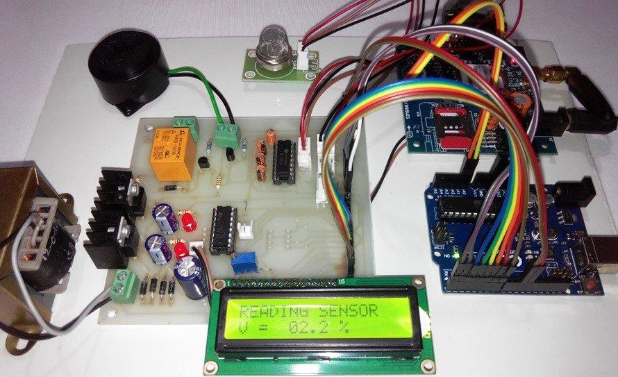 Arduino amp SMS based LPG Leakage detector using GSM modem