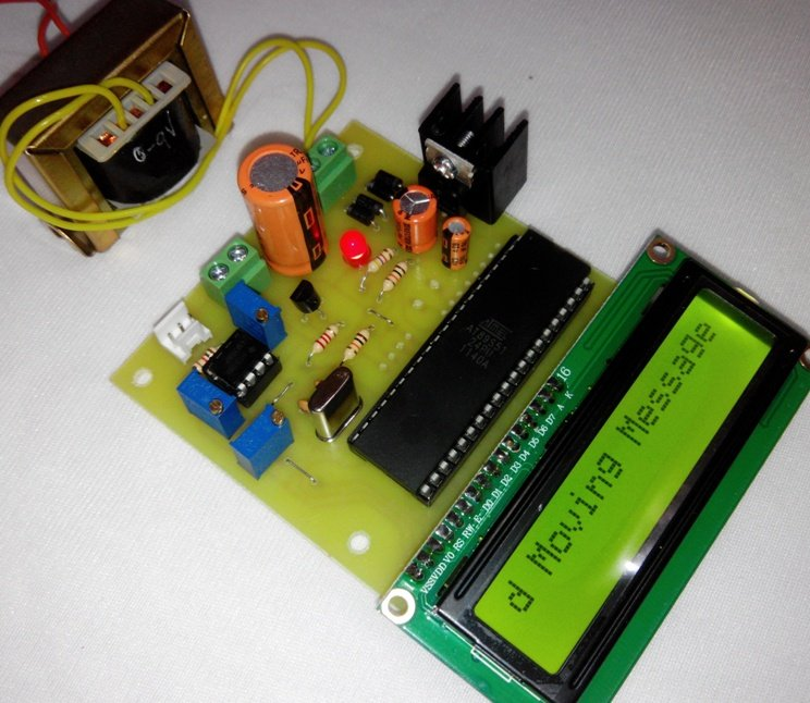 microcontroller based moving message display  lcd