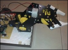 DTMF operated 2 Axis Pick and Place robot controlled using Mobile
