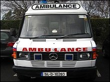 Ambulance tracking with patient health monitoring